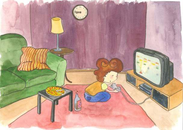 Es preferible que el niño se dedique a actividades y juegos más saludables que la consola - Libro Crecer en Salud