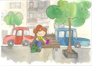 Merienda poco saludable - Libro Crecer en Salud