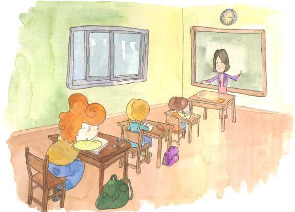 La forma correcta de sentarte en el colegio - Libro Crecer en Salud