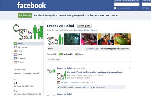 Crecer en Salud en Facebook